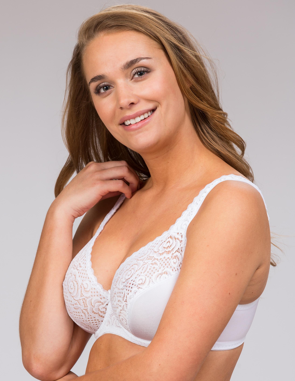 Kaarituettu rintaliivi Annie Valkoinen