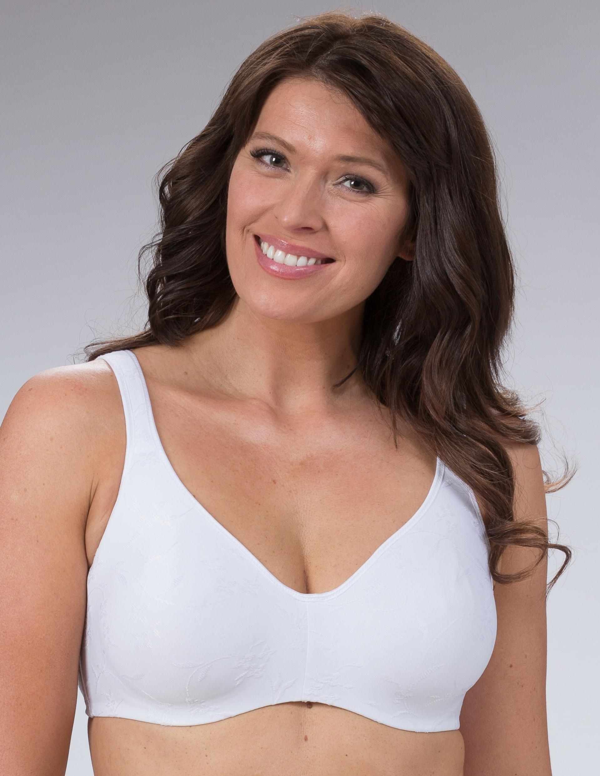 Kaaritueton Emma-rintaliivi,Valkoinen