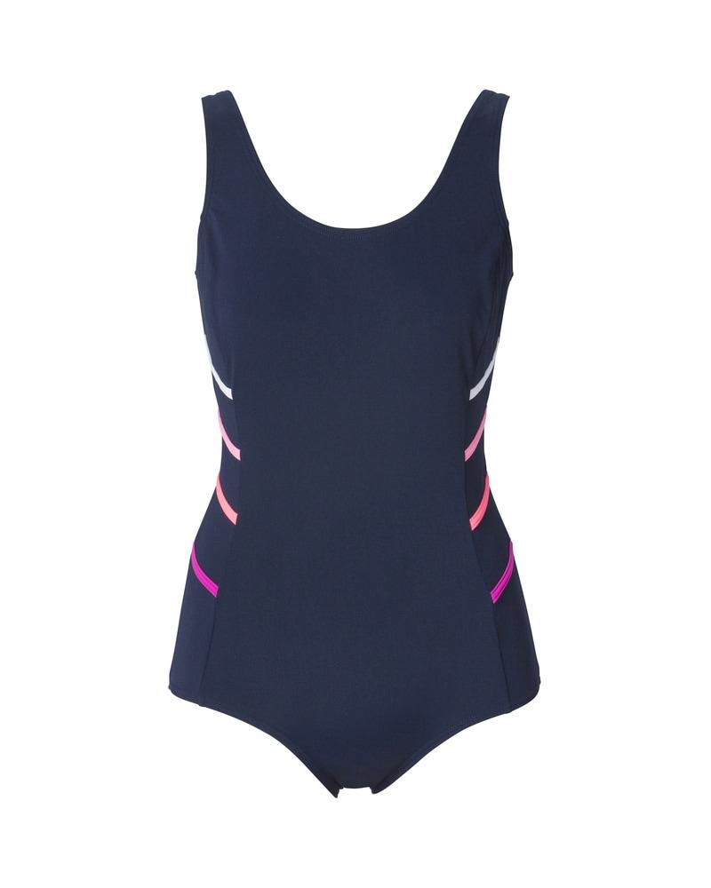 Kloorinkestävä Uimapuku UV-suoja Tummansininen
